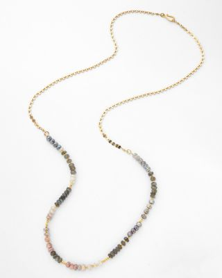 Long Mixed-Stone Necklace by Robindira Unsworth