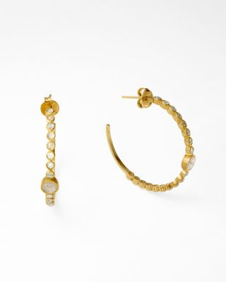 Labradorite Hoop Earrings by Shana Gulati