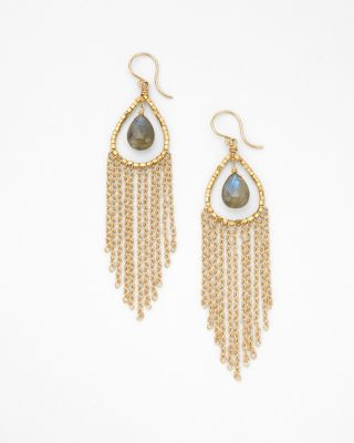 Labradorite Fringe Earrings by Dana Kellin