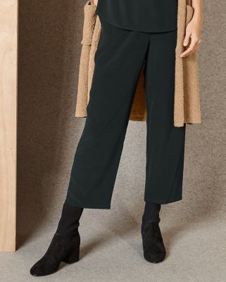 EILEEN FISHER TENCEL Viscose Crepe Slouchy Cropped Pants