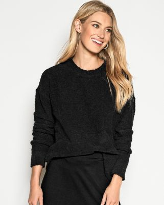 EILEEN FISHER Organic-Cotton Boucle Crew-Neck Boxy Sweater