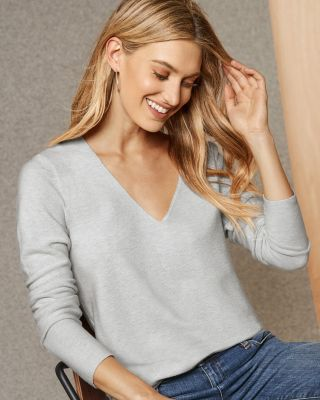 EILEEN FISHER Organic-Cotton and Silk V-Neck Pullover Sweater
