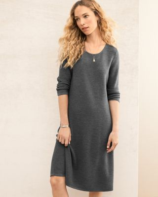 EILEEN FISHER Washable-Wool Sweater Dress Petite