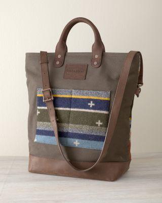 Pendleton Leather & Wool Tote