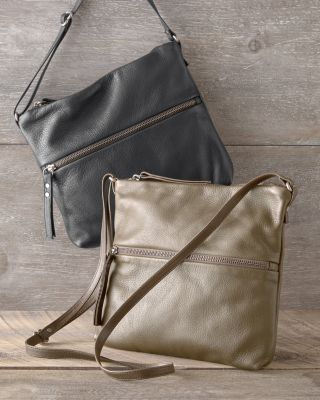 Tall Pinched-Bottom Leather Traveler Bag by Rough and Tumble