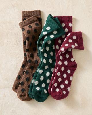 Women's Classic Wool & Cashmere Dot Socks