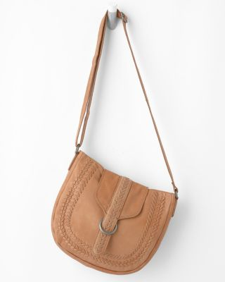 Latico Whipstitch Leather Cross-Body Bag