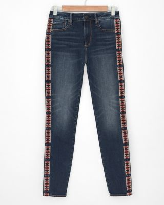 Jackie High-Rise Embroidered Jeans by Driftwood