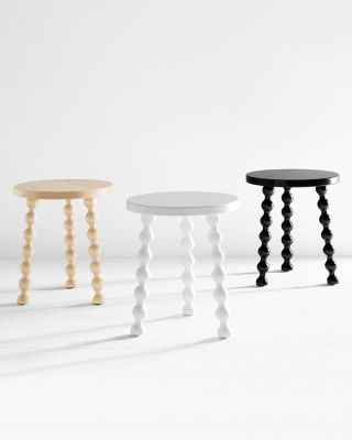 Maple Spindle Accent Stool by Garnet Hill